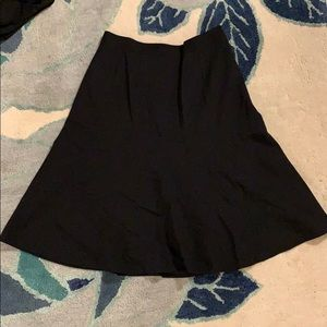 L'Agence Black Flared A Line Skirt